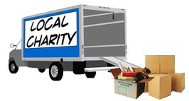 Schedule a donation pickup through DonationTown.org.